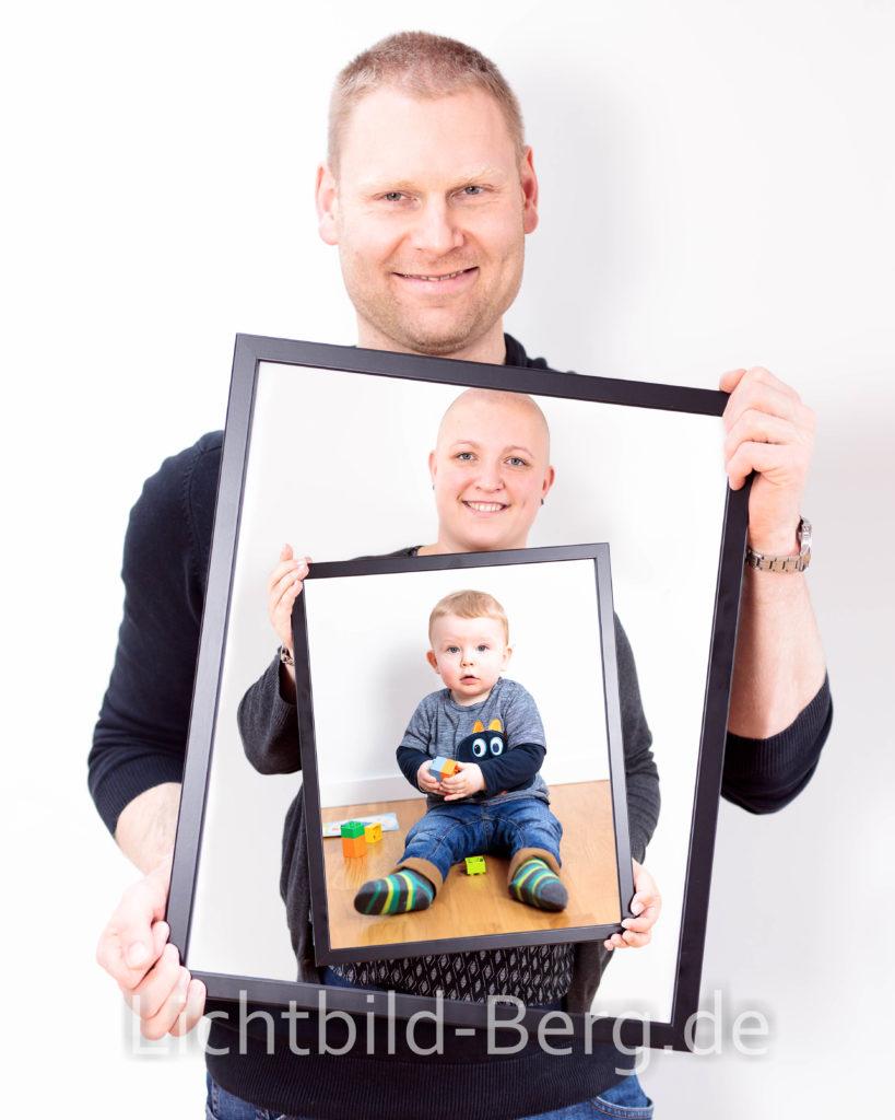 Bildbearbeitung - Familienportrait Bild im Bild